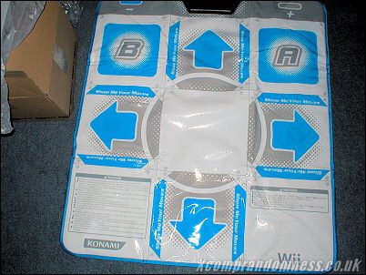 The DDR Dance Mat Wii Version