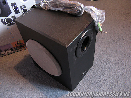 The subwoofer.