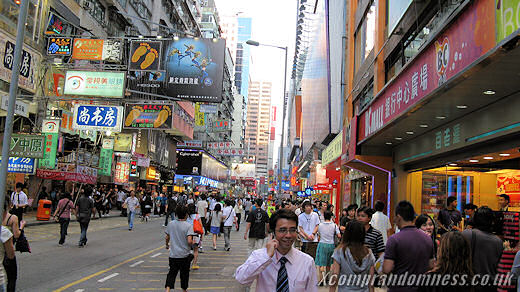 Off to busy Mong Kok