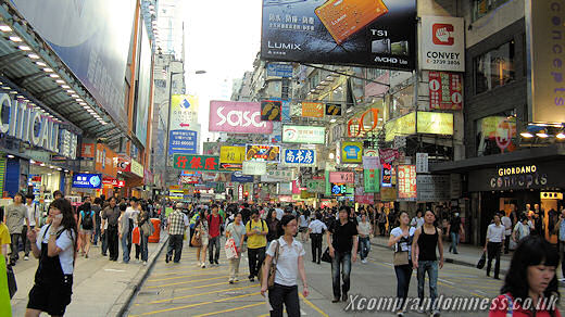 Busy streets of Mong Kok.