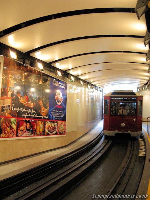 Incoming tram.