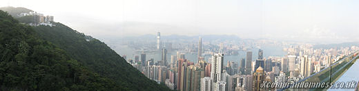 View from Victoria Peak during the day.