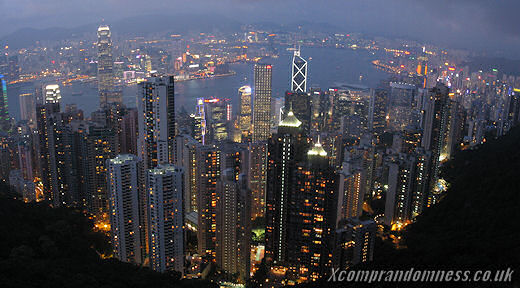 Night time at Victoria Peak.