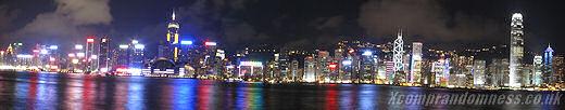 Victoria Harbour opposite Tsim Sha Tsui.