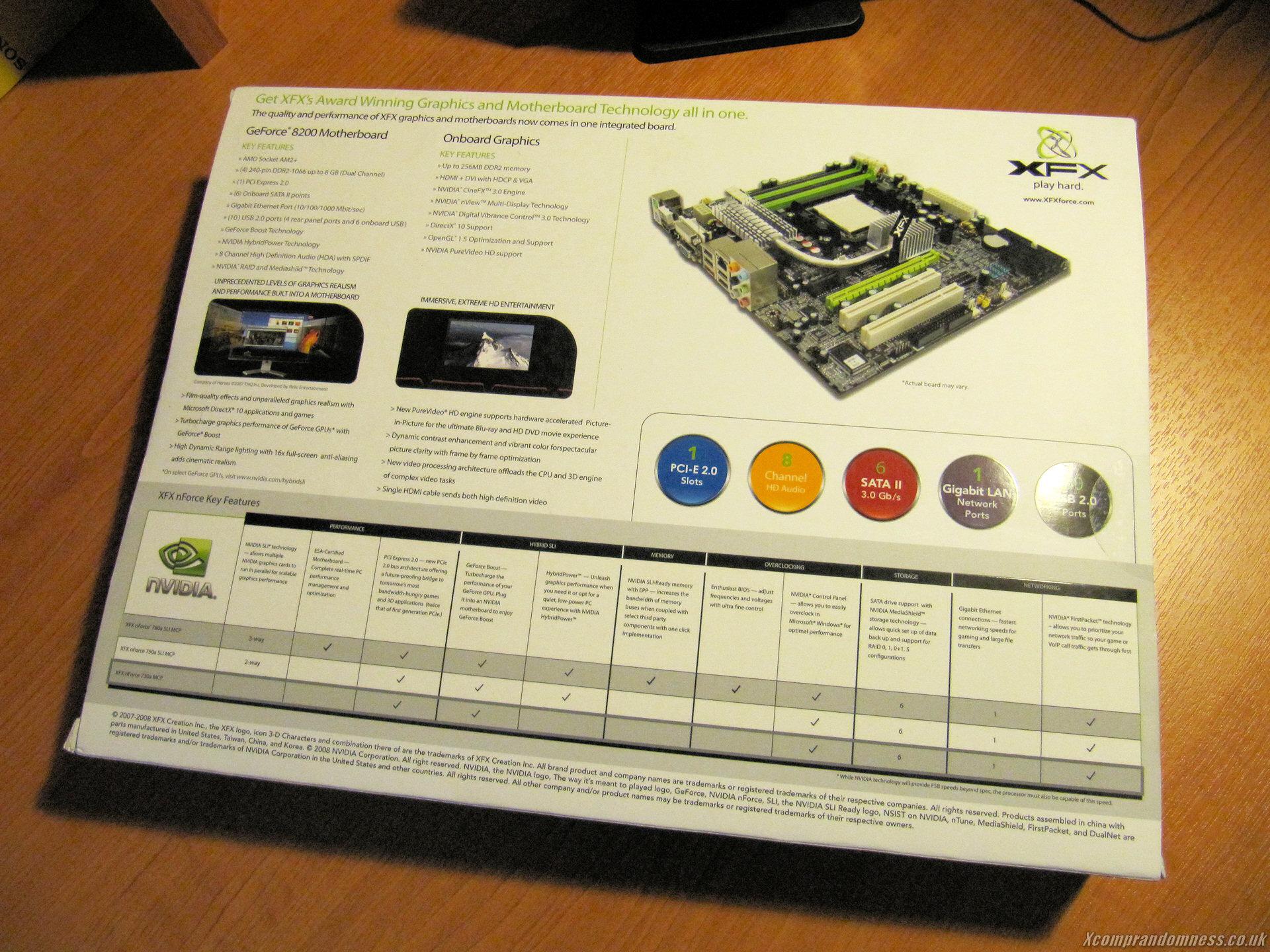 The XFX 8200 specs look impressive.