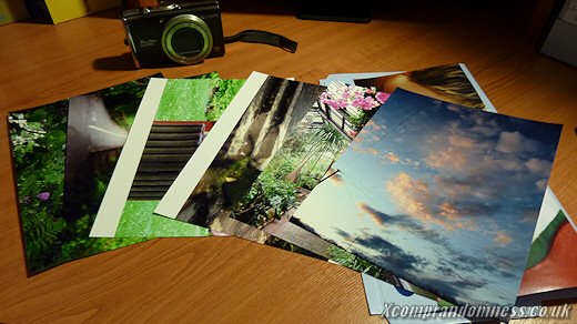 Printouts of digital photos.