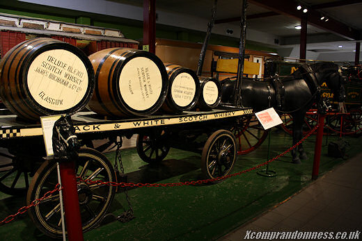 Barrels of alchohol.