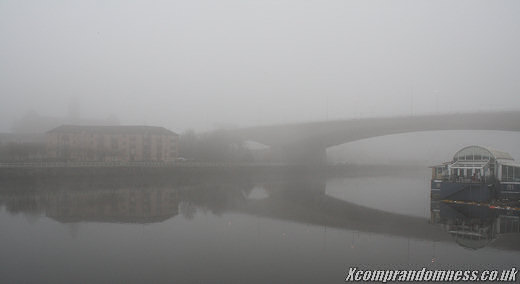 A foggy day in Glasgow.