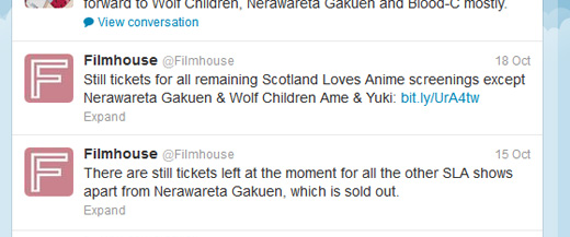 NeraGaku and Wolf Children Sold Out