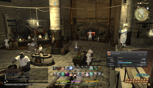 Cooking at the guild in Limsa.