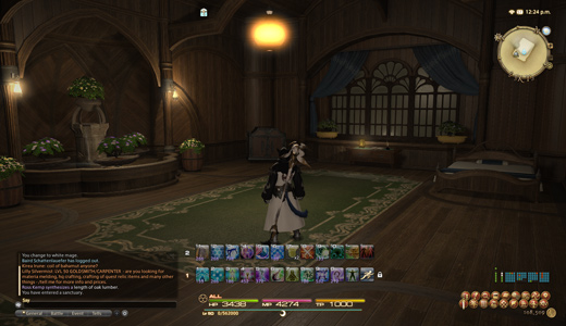 Gridania inn room... with a fountain.