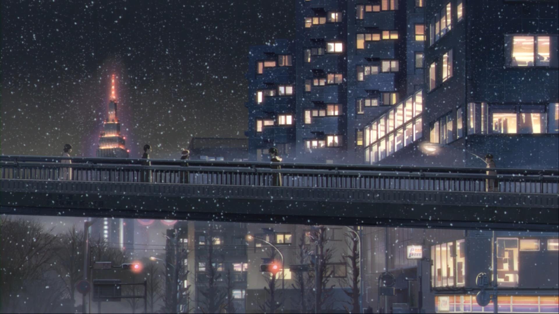 5cm night scene from Harajuku