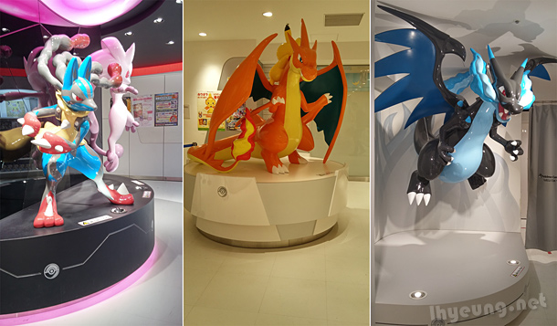 Pokemon statues