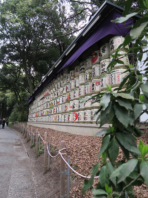 Wall of sake