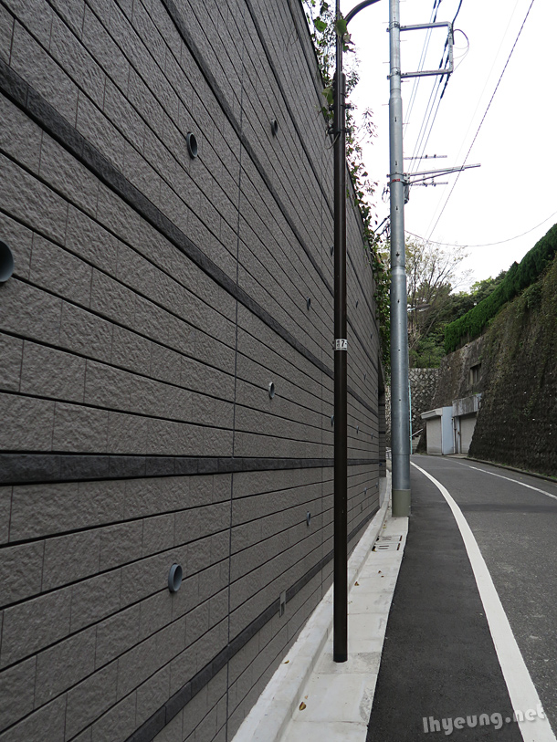 Walls around the Yoyogi area.