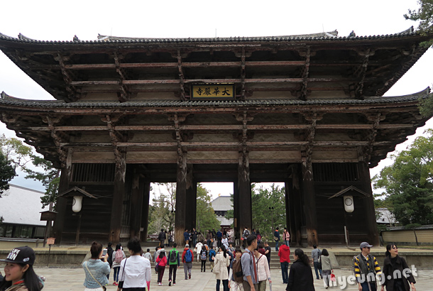One of the gates to Todaiji