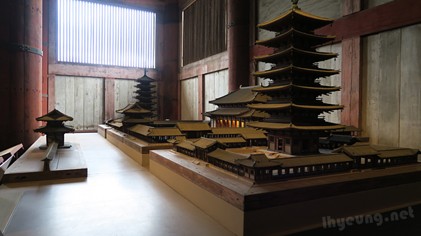 Scaled down model of Toudaiji