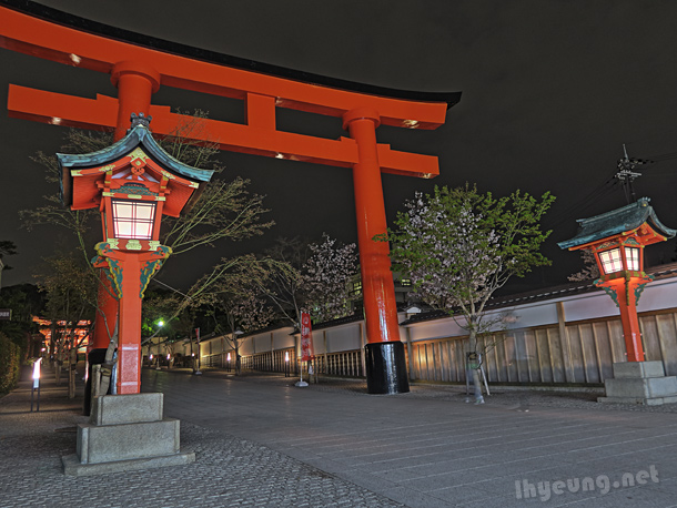 Outside the gates of Fushimi Inari