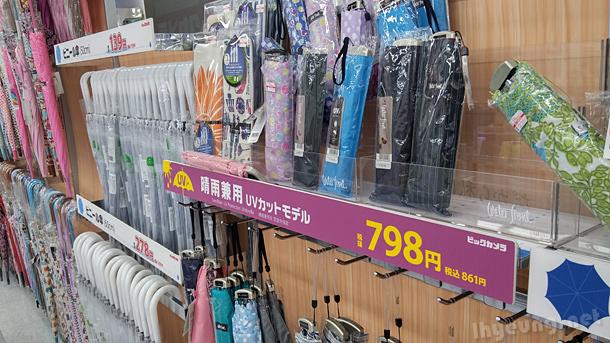 Flat umbrellas