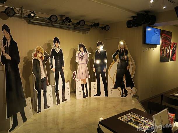 Noragami character stands.