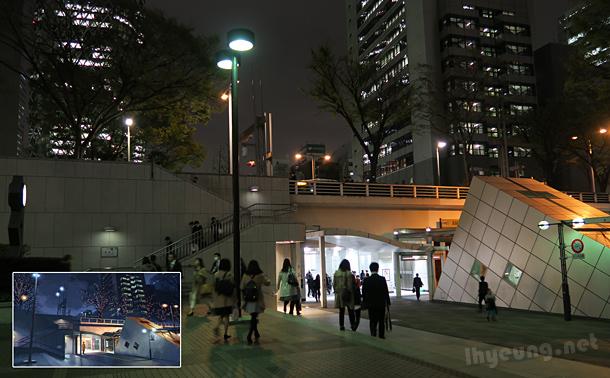 Subway leading to Shinjuku Station