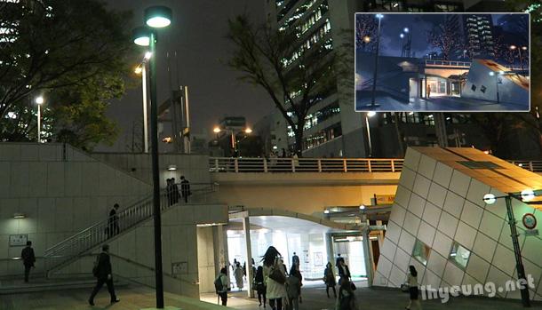 Subway towards Shinjuku Station