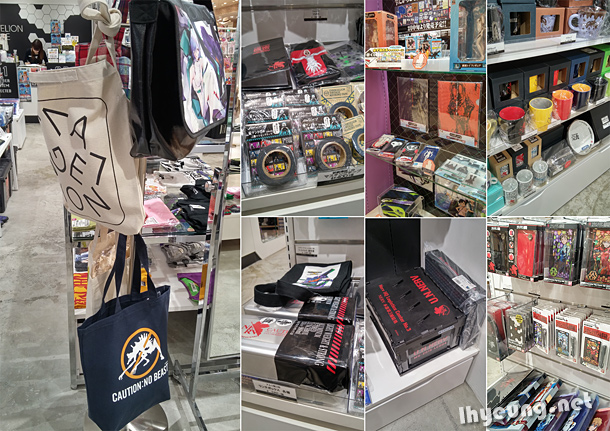Lots and lots of Evangelion goodies