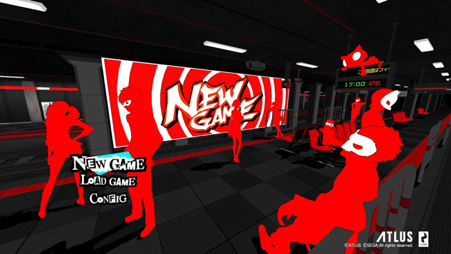 Persona 5 - Just the title screen alone oozes quality.