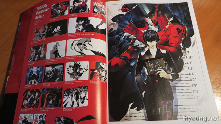 Persona 5 Official Design Works Japanese Artbook USED