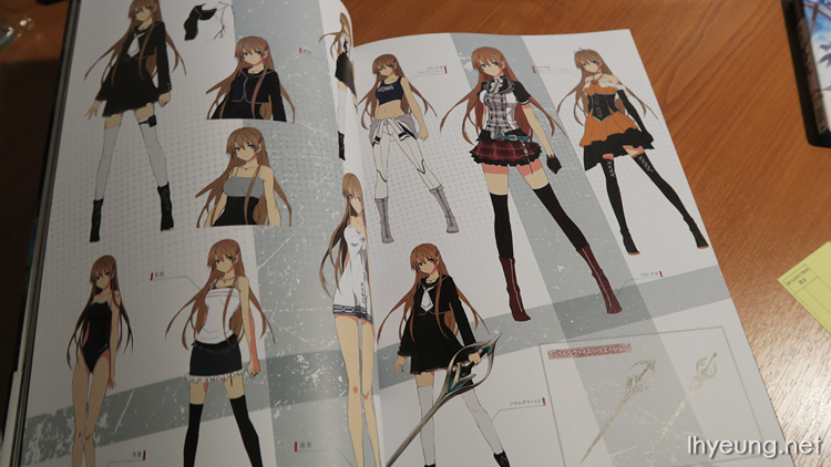 Tokyo Xanadu Visual Guide Artbook Review | LH Yeung.net Blog - Tech Anime and Games