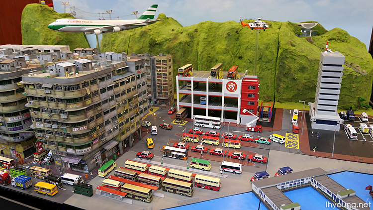 An awesome diorama of Hong Kong.