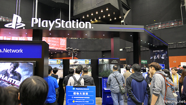 Playstation booths.