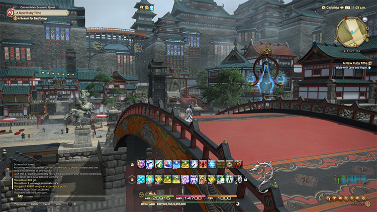 New Japan-like area, Kugane.