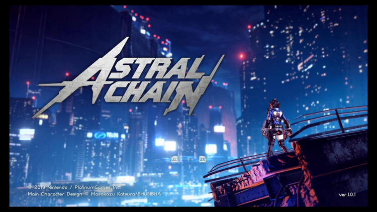 Astral Chain has a dynamic title screen.